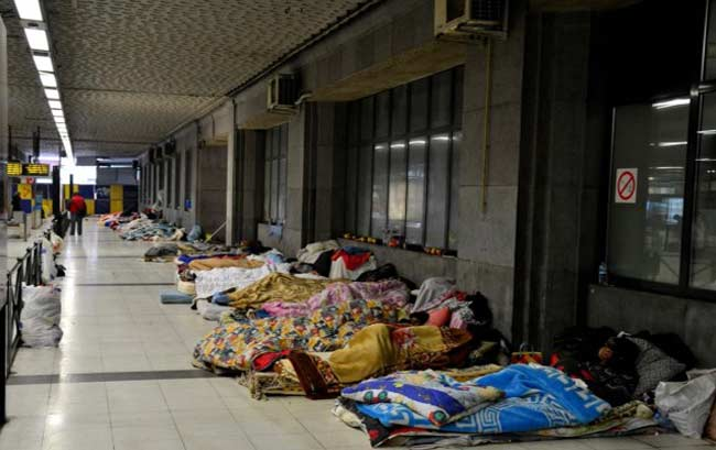 Ночные облавы нелегалов на вокзале Брюссель Норд