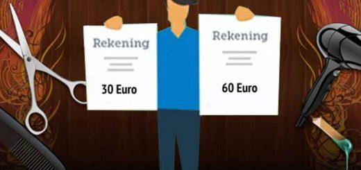 Разница в ценах на услуги парикмахера в Бельгии