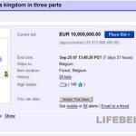 В 2007 году Бельгию пытались продать через Ebay