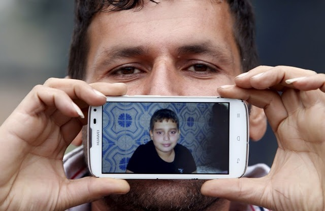 Саид из Ирана, со своим сыном Хуссейном