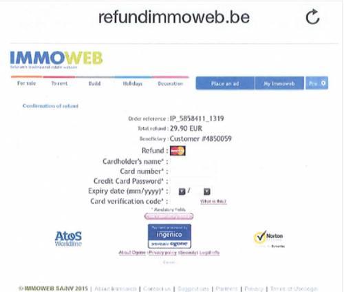 мошенники на сайте immoweb