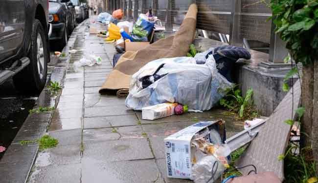 мусор в Брюсселе
