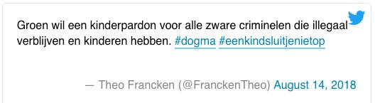 Франкен в твиттер по поводу реакции Зеленых