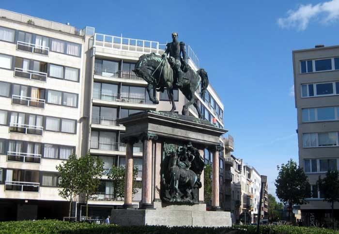 Площадь Леопольда I в Остенде