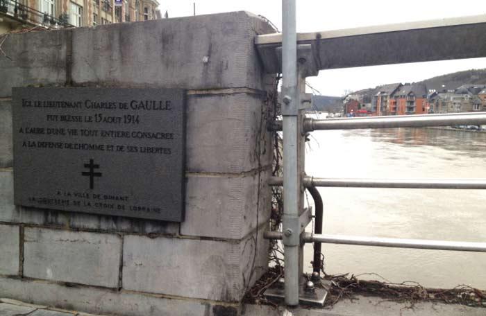 Мост Шарля-де-Голля в бельгийском Динан