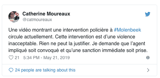 """Мэр Катрин Муро (PS) обещала в Твиттере, что реакция будет незамедлительной. """"Я прошу, чтобы причастный агент предстал перед судом и чтобы наказание не заставило ждать""""."""