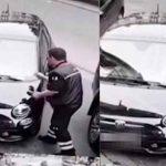 Странное поведение паркинг-контроллера: выписал штраф – сделал фото, а затем забрал квитанцию