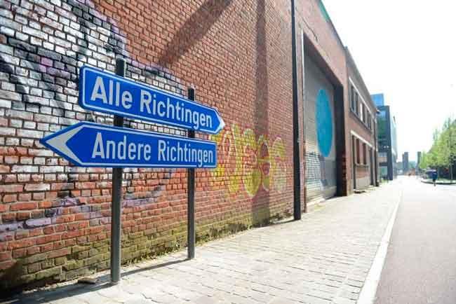 Самый нелепый дорожный знак Бельгии находится в Левене, но этому есть причина