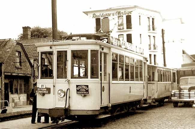 Первый трамвай в Де Панне