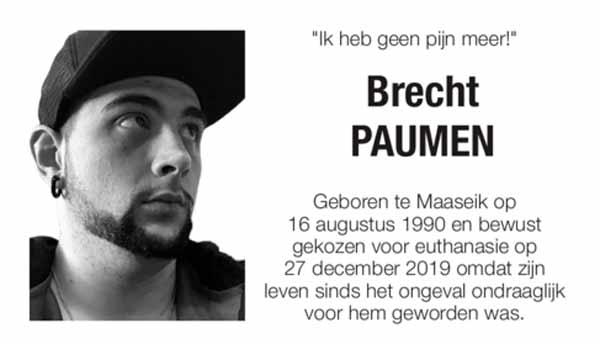 """Спустя 11 лет после трагического случая, молодой бельгиец выбирает эвтаназию: """"Он мог жить с параличом, но не с одиночеством"""""""