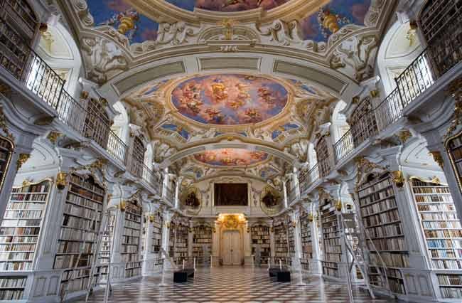 Монастырская библиотека в Адмонте, Австрия