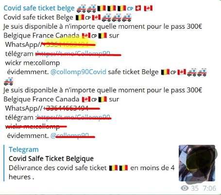Корона-паспорта как и следовало ожидать, продаются в социальной сети Телеграм